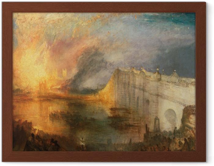 Poster en cadre William Turner - L'Incendie de la Chambre des Lords et des Communes, le 16 octobre 1834 - Reproductions