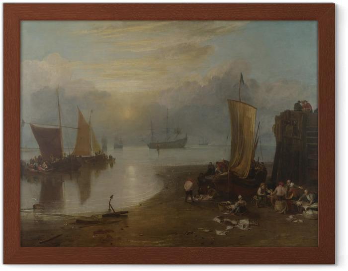 Póster Enmarcado William Turner - Sol naciente a través del vapor - Reproducciones