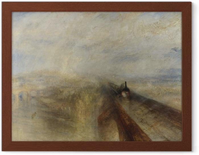 Póster Enmarcado William Turner - Lluvia, vapor y velocidad - Reproducciones