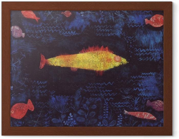 Plakat w ramie Paul Klee - Złota rybka - Reprodukcje
