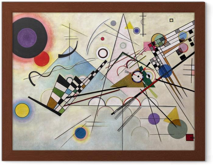Póster Enmarcado Vasili Kandinski - Composición VIII - Reproducciones