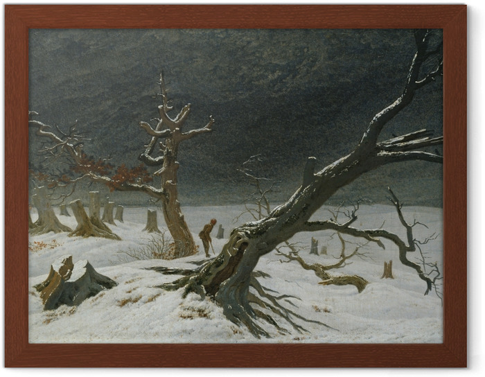 Póster Enmarcado Caspar David Friedrich - Paisaje invernal - Reproductions