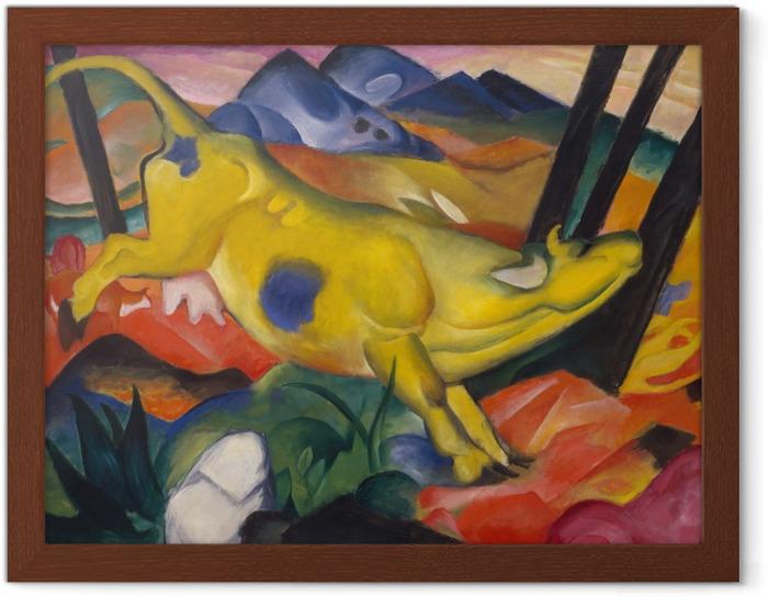 Póster Enmarcado Franz Marc - Vaca amarilla - Reproductions