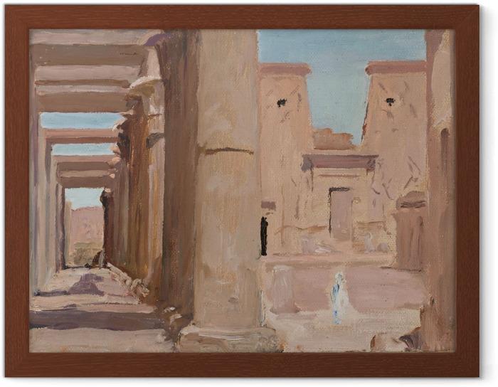 Póster Enmarcado Jan Ciągliński - Templo. Del viaje a Egipto - Reproductions