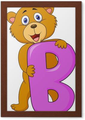 Carta da parati alfabeto b con l orso dei cartoni animati u pixers