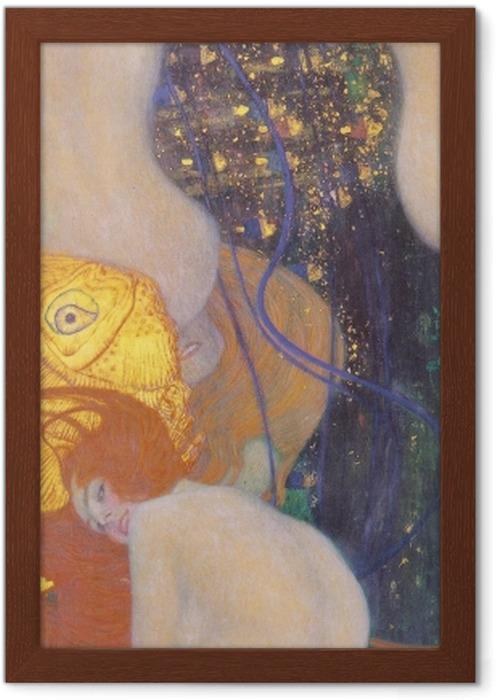 Póster Enmarcado Gustav Klimt - Pez de colores - Reproducciones