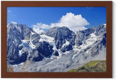 Südtiroler Dreigestirn - Ortler & Königspitze Framed Poster