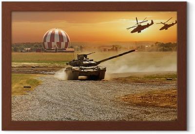Gerahmtes Poster Krieg