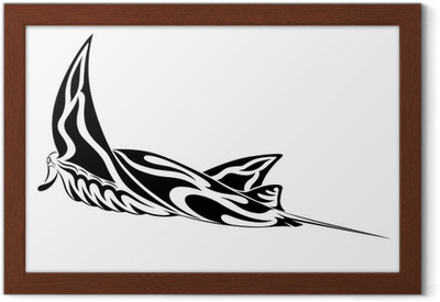 44d8b30d9 Manta Ray, tribal tattoo Poster • Pixers® • We live to change