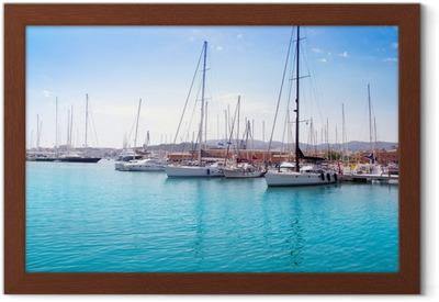 Poster in Cornice Marina porto di Palma di Maiorca a Isole Baleari