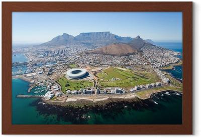 Gerahmtes Poster Gesamt Luftaufnahme von Kapstadt, Südafrika