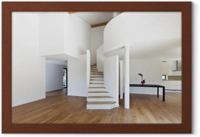 Sticker interieur modern huis trap parket u pixers we leven