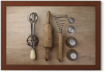 Poster Vecchi utensili da cucina • Pixers® - Viviamo per il cambiamento