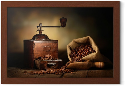 Çerçeveli Poster Antico macinino da caffè