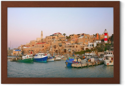 Ingelijste Poster De oude haven van Jaffa. Tel Aviv