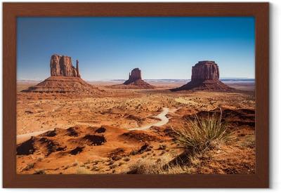 Leinwandbild die classic western landschaft im monument valley