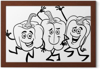 Carta da parati verdura peperoni cartoni animati per libro da