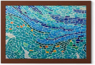 Carta da parati estratto parete decorata di piastrelle colorate