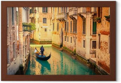 Póster com Moldura Canal in Venice