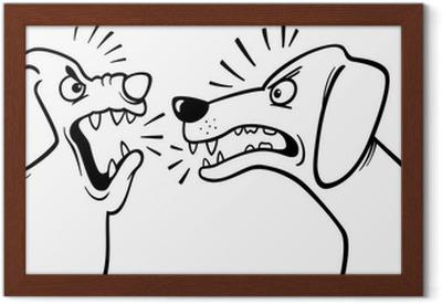 Página Para Colorear Perros Ladrando Enojado