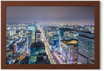Gerahmtes Poster Seoul, Südkorea Skyline