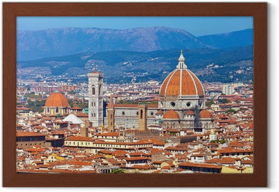 Gerahmtes Poster Florence cityscape
