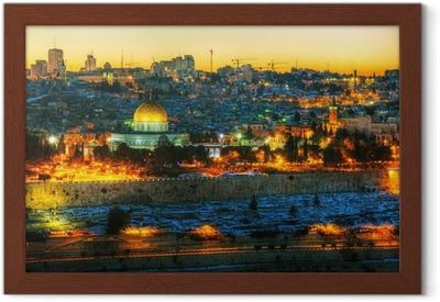 Overview of Old City in Jerusalem, Israel Framed Poster