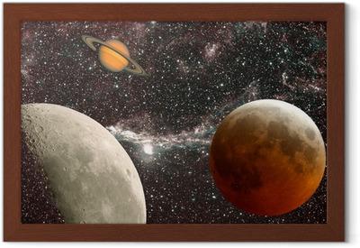 leçon d'astronomie, les planètes Framed Poster