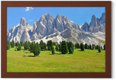 Alps on summer Framed Poster
