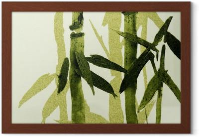 Poster en cadre Bamboo texture