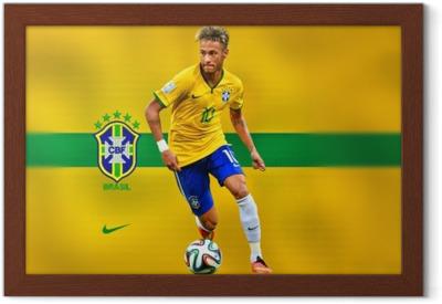 Poster en cadre Neymar