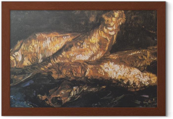 Poster i Ram Vincent van Gogh - Stilleben med böcklingar - Reproductions
