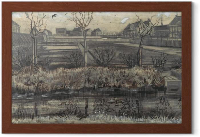 Póster Enmarcado Vincent van Gogh - Vivero en Schenkweg - Reproductions