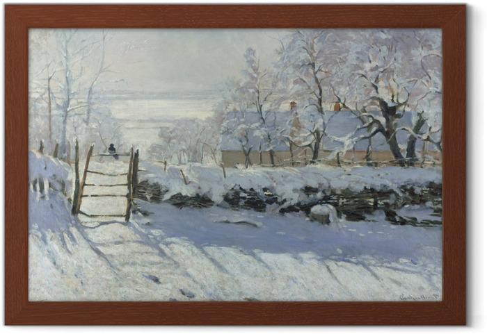 Póster Enmarcado Claude Monet - La urraca - Reproducciones