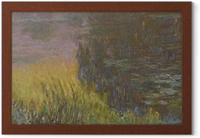 Póster Enmarcado Claude Monet - Waterlilies en la puesta - Reproducciones