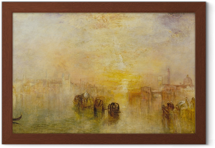 Poster en cadre William Turner - Going to the Ball (San Martino) - Reproductions