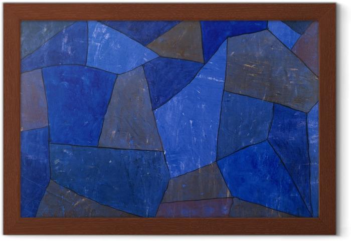 Póster Enmarcado Paul Klee - Rocas en la noche - Reproducciones