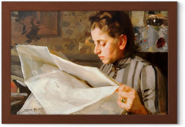 Póster Enmarcado Anders Zorn - Chica leyendo - Reproductions