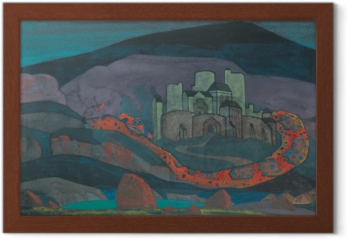 Poster en cadre Nicolas Roerich - La ville sinistrée - Nicholas Roerich