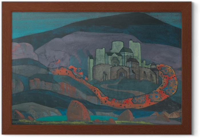 Póster Enmarcado Nikolái Roerich - La ciudad condenada - Nicholas Roerich