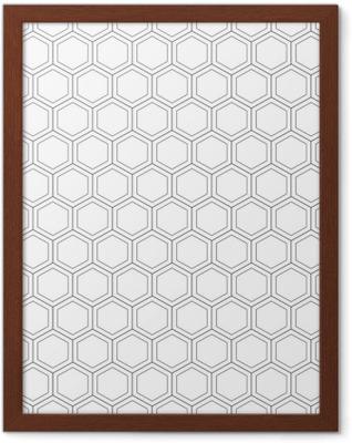Poster en cadre Nid d'abeille seamless pattern.vector illustration.hexagonal texture. grille sur fond blanc. conception géométrique. texture abstraite élégante moderne. modèle pour impression, textile, emballage et décoration