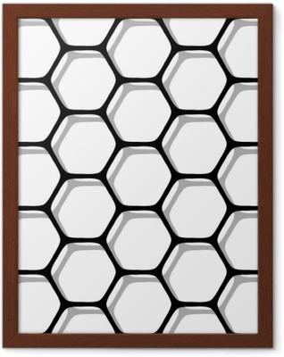 Poster en cadre Modèle d'hexagones sans soudure.