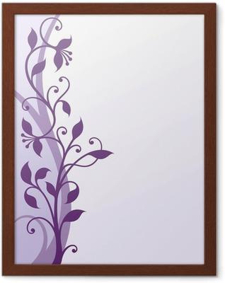 Gerahmtes Poster Violette Blumen