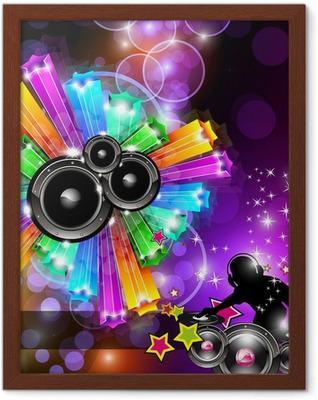 Poster in Cornice Musica Flyer discoteca per ballare Eventi