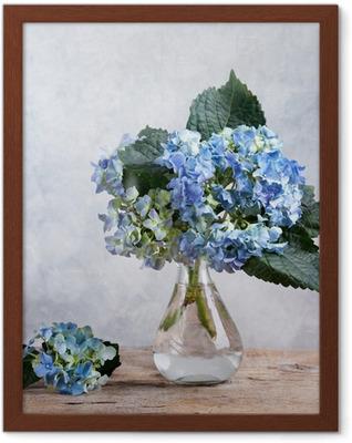 Stilleben mit Hortensien Framed Poster