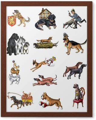 Ingelijste Poster Honden