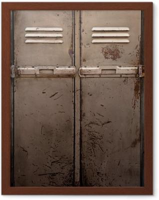 Ingelijste Poster Oude metalen locker