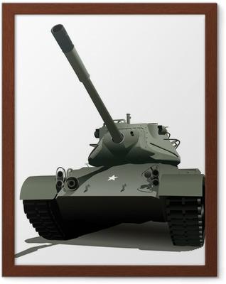 Gerahmtes Poster Military tank