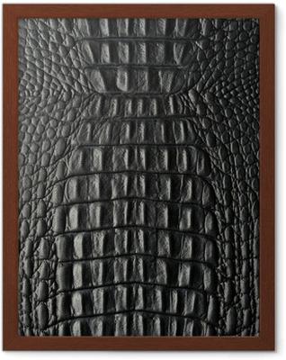 Croco schwarz Framed Poster