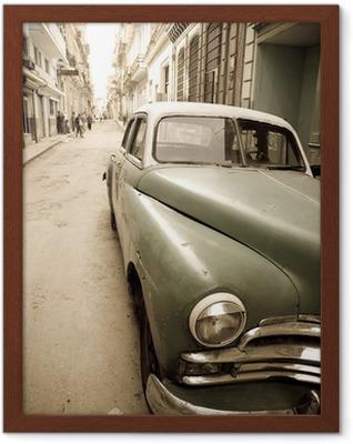 Poster in Cornice Auto d'epoca cubana